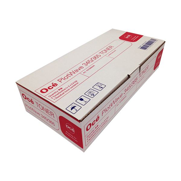 オセPlotWave345/365用トナーキット (トナー400g×2本、廃トナーボトル×1個) PW345365TK1箱