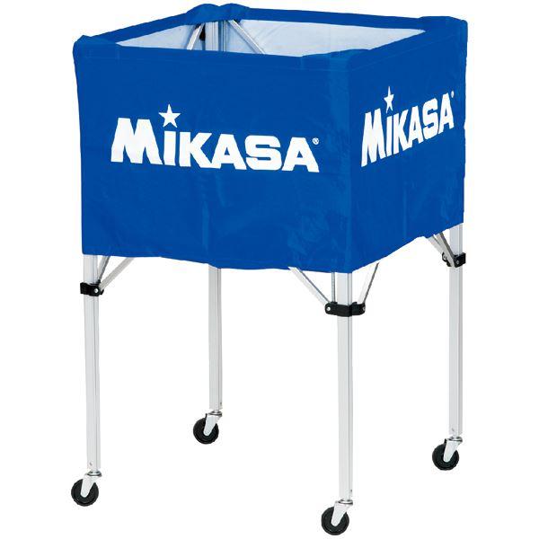 MIKASA(ミカサ)器具 ボールカゴ 箱型・大(フレーム・幕体・キャリーケース3点セット) ブルー 【BCSPH】