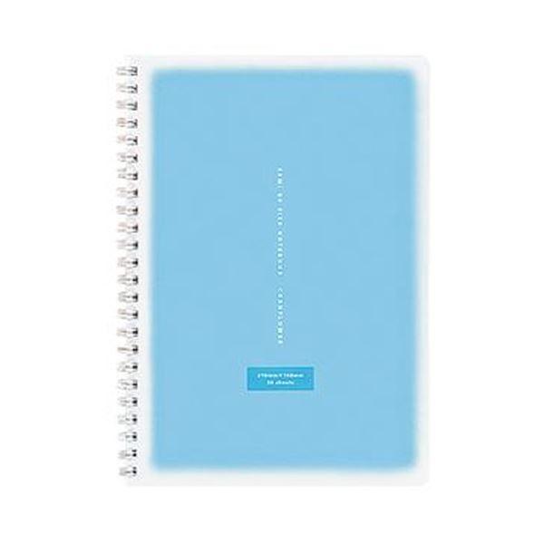 (まとめ)コクヨ ツインリングノート<コロレー> A5 50枚 ブルー ス-TV31AN-B 1セット(5冊)【×10セット】