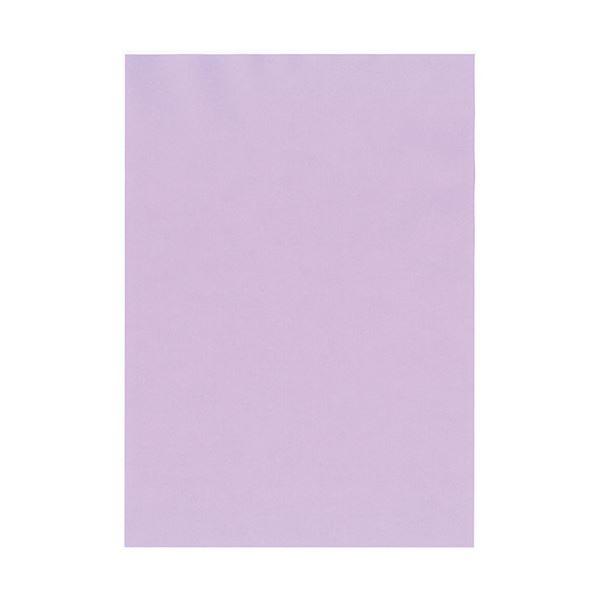 (まとめ) 北越コーポレーション 紀州の色上質A4T目 薄口 りんどう 1冊(500枚) 【×5セット】
