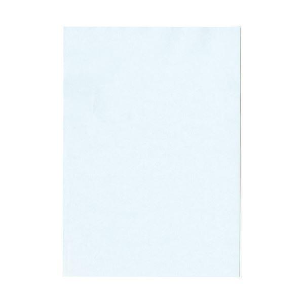 (まとめ) 北越コーポレーション 紀州の色上質A4T目 薄口 あじさい 1冊(500枚) 【×5セット】