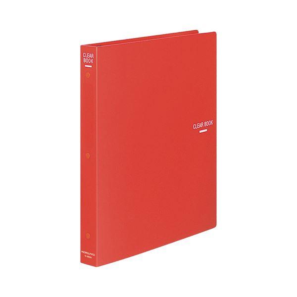 (まとめ) コクヨ クリヤーブック(クリアブック)(替紙式) A4タテ 30穴 23ポケット付属 背幅34mm 赤 ラ-460R 1冊 【×10セット】