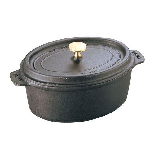 ストウブ ピコ・ココット オーバル 17cm 黒 40509-482 RST3503