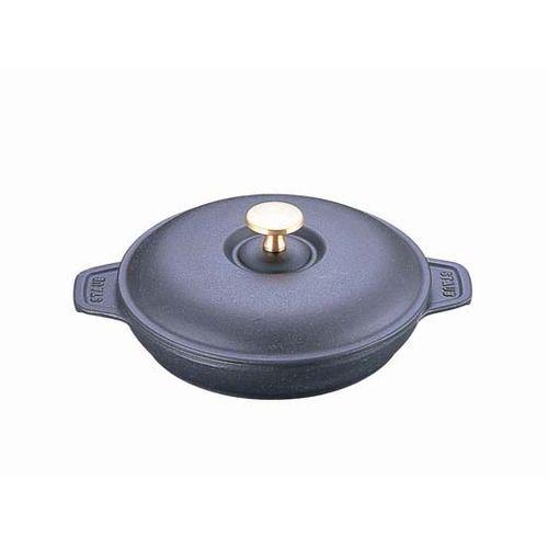 ストウブ ラウンドホットプレート(蓋付) 20cm 黒 40509-579 RST3601
