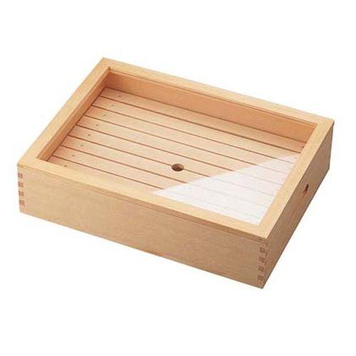 ヤマコー 木製 ネタ箱 目皿・アクリル蓋付 小 ANT1102