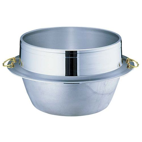 ウルシヤマ金属 アルミ鋳物キング釜(カン付き) 33cm AKVM906【送料無料】