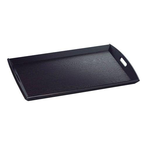 ヤマコー 新型脇取盆 黒(栓材) 大 17198 EWK0301
