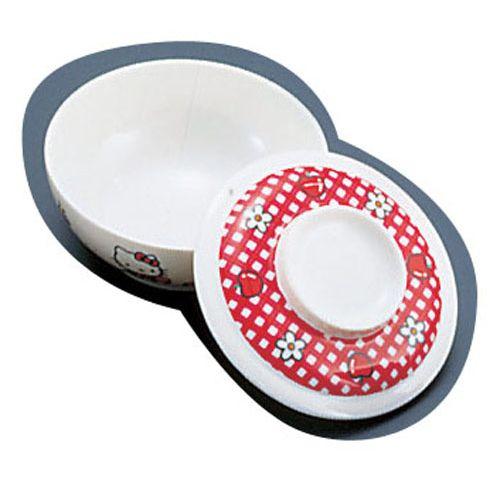 台和 メラミンお子様食器「ニューキティ」 蓋付汁碗(ギンガム) RSL98