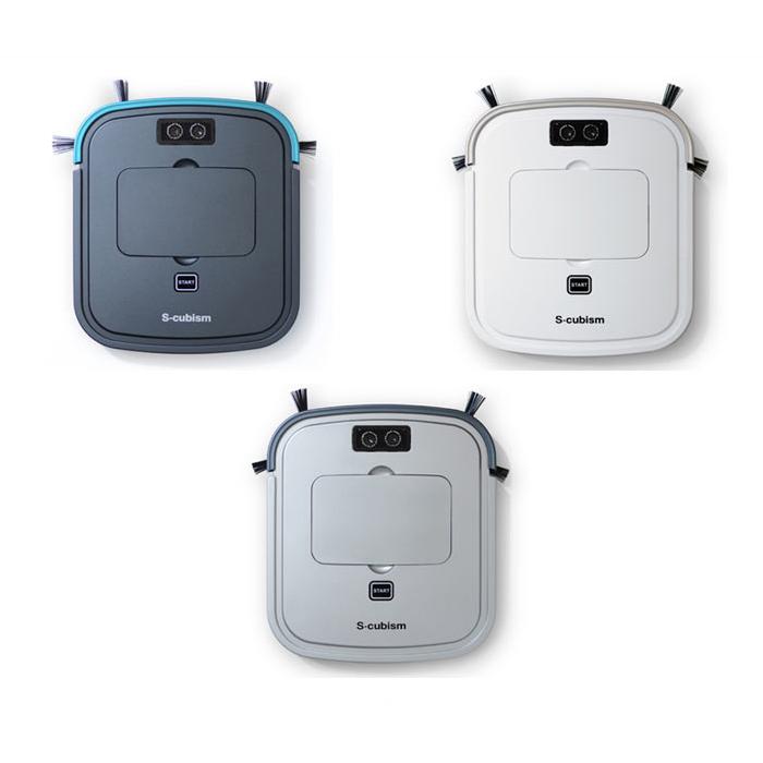 S-cubism 超薄型 ロボット掃除機 SCC-R05 3色 ガンメタリック シルバーメタリック パールホワイト スタンド付き 落下防止【送料無料】