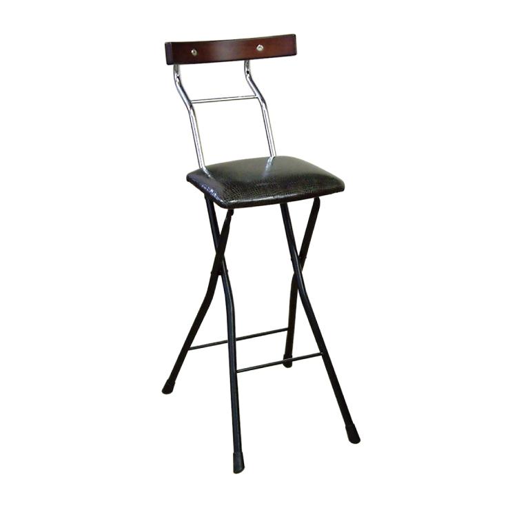 ルネセイコウ カウンターチェア 折りたたみチェア ロイドチェア ハイ レザー調 ハイチェア バーチェア 椅子 LYD-65(代引不可)【送料無料】