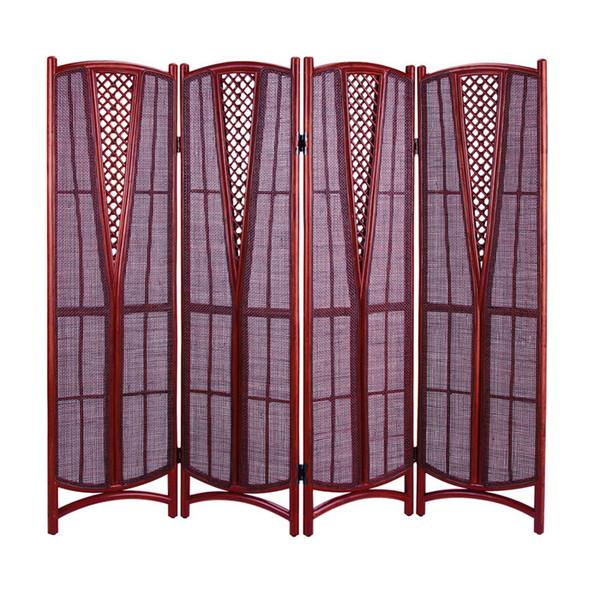 今枝ラタン 籐 スクリーン アジアン家具 高級ラタン エスニック バリ 高品質 温浴備品 おしゃれ 高耐久 長持ち S-001-4SD【送料無料】
