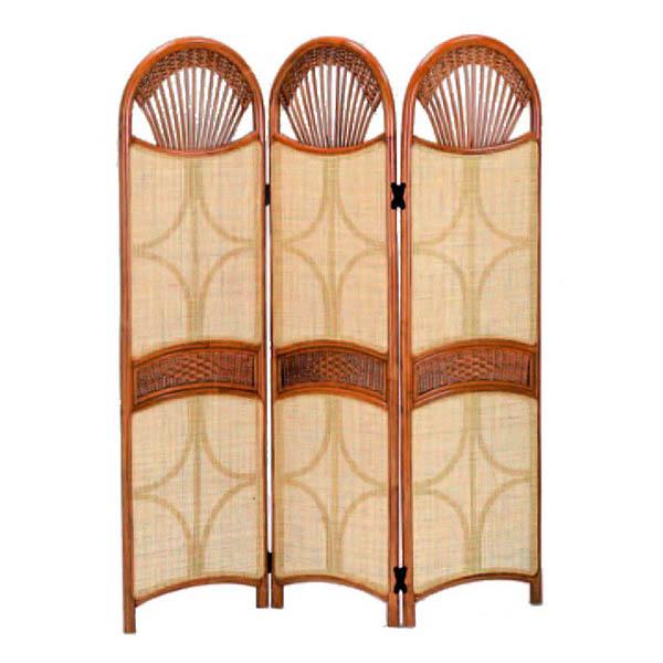 今枝ラタン 籐 スクリーン アジアン家具 高級ラタン エスニック バリ 高品質 温浴備品 おしゃれ 高耐久 長持ち S-128-3SA【送料無料】
