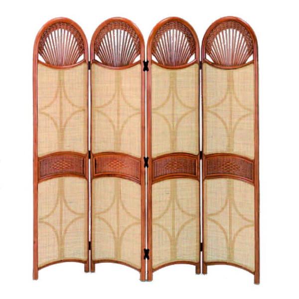今枝ラタン 籐 スクリーン アジアン家具 高級ラタン エスニック バリ 高品質 温浴備品 おしゃれ 高耐久 長持ち S-128-4LA【送料無料】