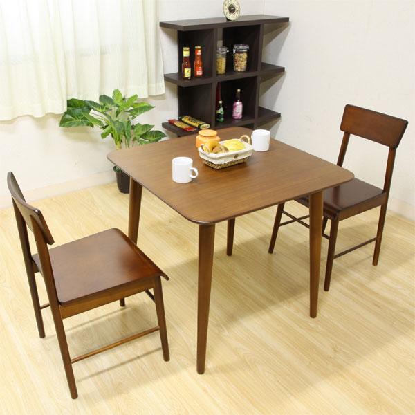 ダイニングテーブル テーブル 木目 ダイニング 机 2人掛け エクレア DBR(代引き不可)
