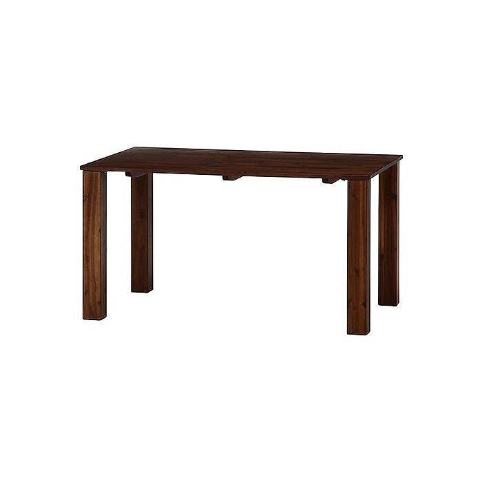 ダイニングテーブル 135×80 ブラウン W1350×D800×H720mm ウォルナット無垢集成材 おしゃれ(代引不可)【送料無料】