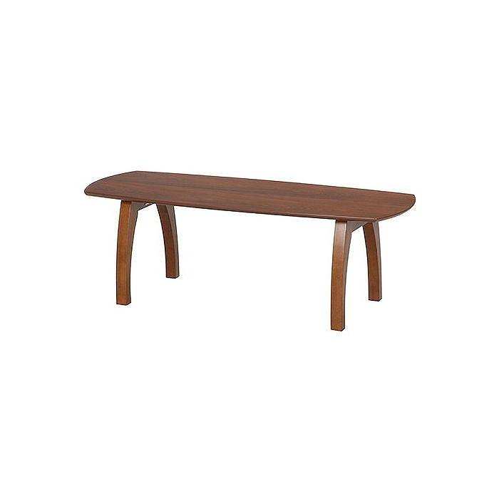 折れ脚リビングテーブル W1200×D500×H400mm 天然木化粧繊維板 おしゃれ(代引不可)【送料無料】