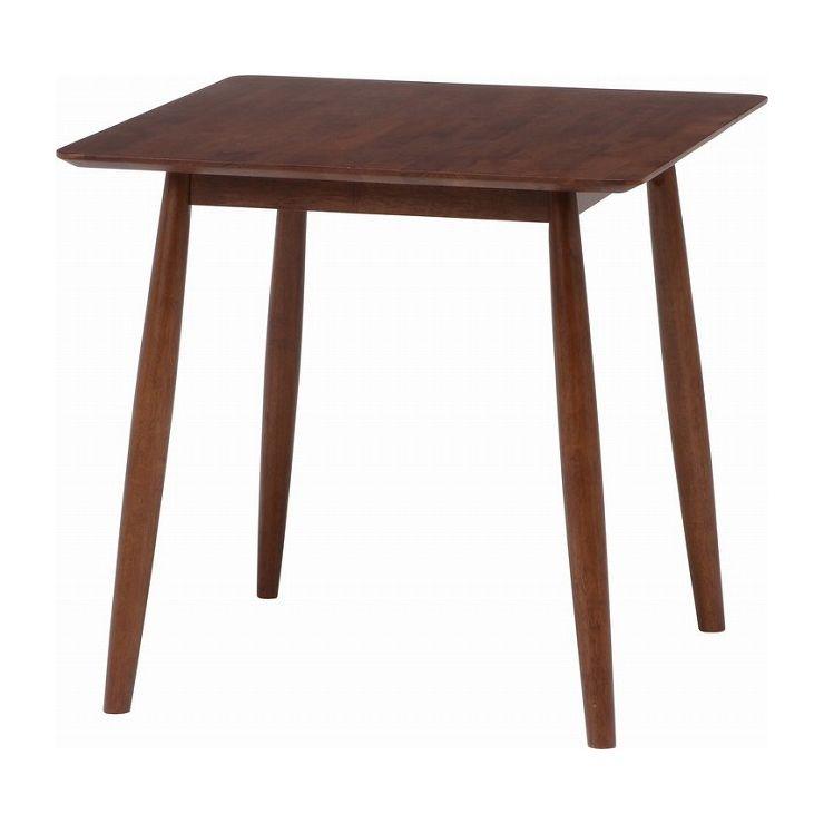 ダイニングテーブル 食卓テーブル ブラウン 幅75×奥行75×高さ73cm 天然木 ラバーウッド(代引不可)【送料無料】