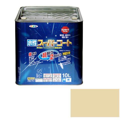 アサヒペン 多用途-水性スーパーコート 10L-ティントベ-ジュ【送料無料】