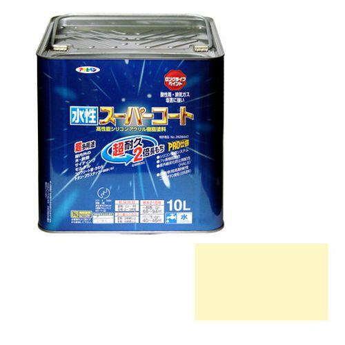 アサヒペン 多用途-水性スーパーコート 10L-アイボリー【送料無料】
