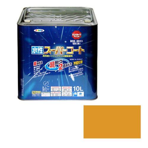 アサヒペン 多用途-水性スーパーコート 10L-シトラスイエロー【送料無料】