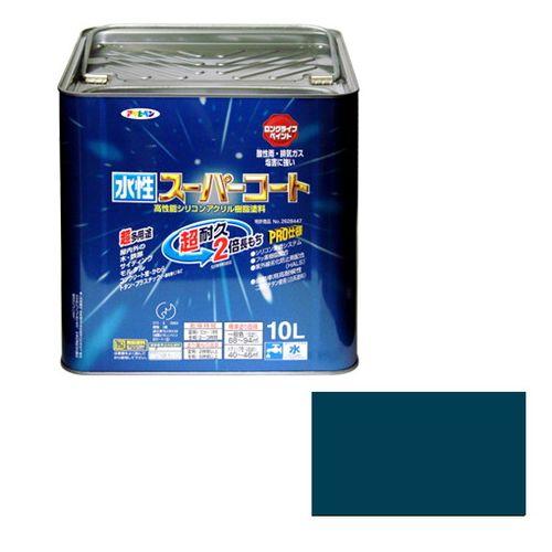 アサヒペン 多用途-水性スーパーコート 10L-オーシャンブルー【送料無料】