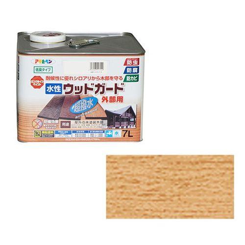 アサヒペン 水性ウッドガード外部用 7L-クリヤ【送料無料】