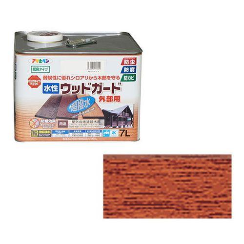アサヒペン 水性ウッドガード外部用 7L-チーク【送料無料】