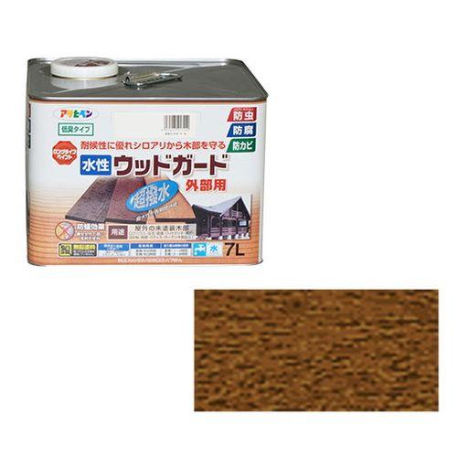 アサヒペン 水性ウッドガード外部用 7L-ウォルナット【送料無料】