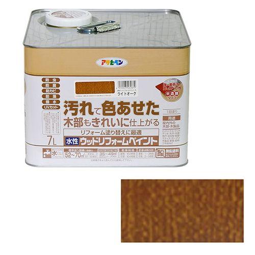 アサヒペン 水性ウッドリフォームペイント 7L-ライトオーク【送料無料】
