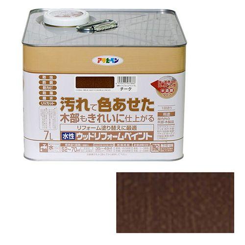 アサヒペン 水性ウッドリフォームペイント 7L-チーク【送料無料】