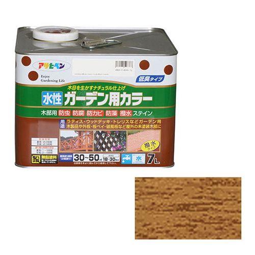 アサヒペン 水性ガーデン用カラー 7L-オーク【送料無料】