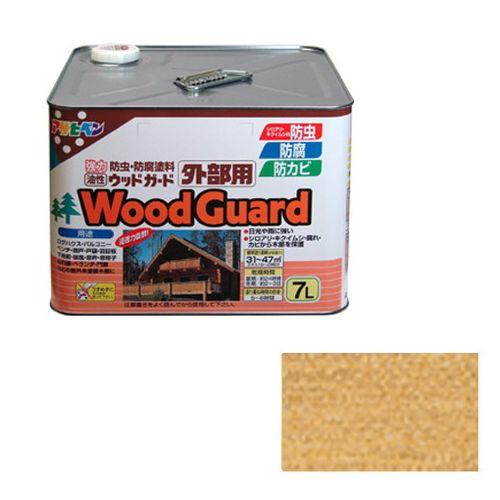 アサヒペン 油性ウッドガード外部用 7L-クリヤー01【送料無料】