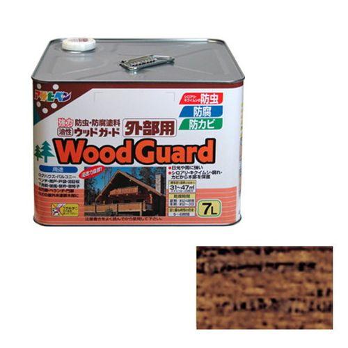 アサヒペン 油性ウッドガード外部用 7L-ウォルナット-11【送料無料】