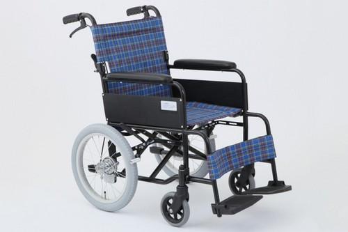 《単品》アルミ製標準形 介助用車いす アミー16 MW-16A ターコイズブルー 【送料無料】