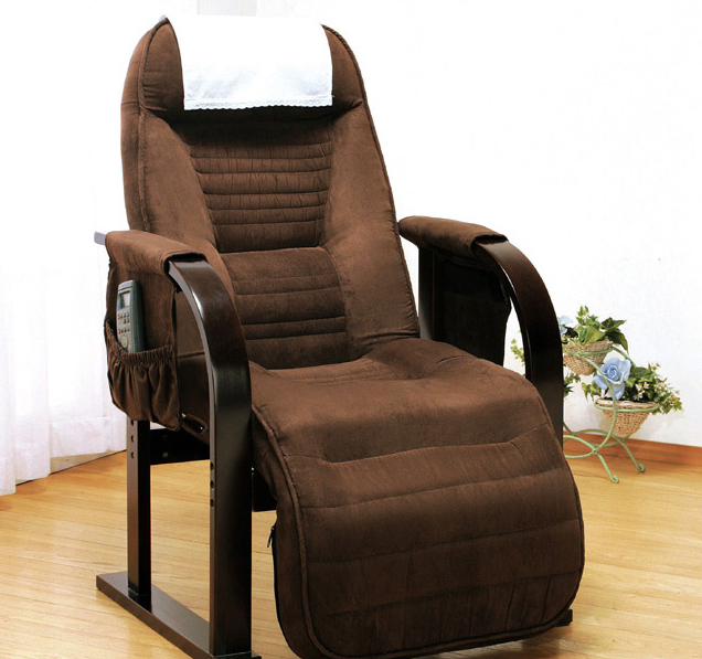 高座椅子 天然木低反発高座椅子 座椅子 低反発 リクライニングチェア リクライニング(代引不可)【送料無料】