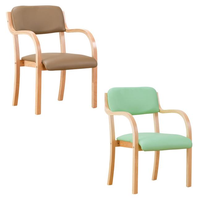 立ち座りサポートチェア 介護福祉チェア 肘付き 介護チェア 木製 ダイニングチェア(代引不可)【送料無料】