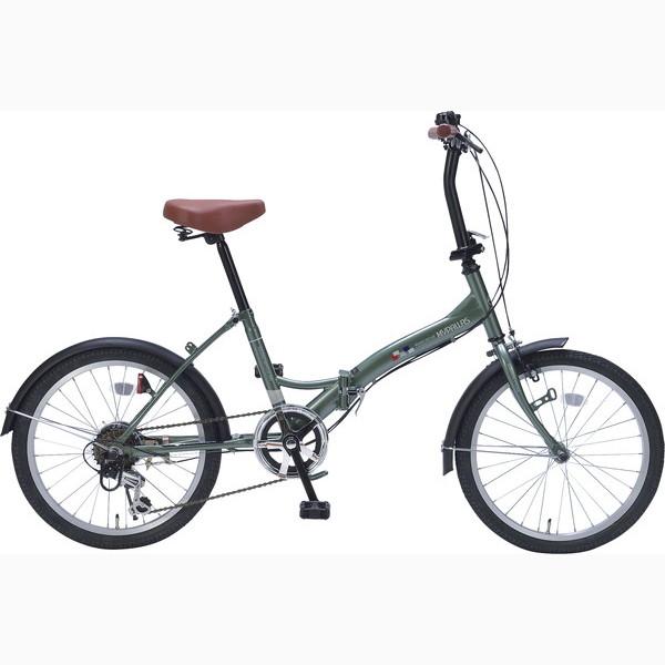 折畳自転車20インチ6ギア グリーン M-209 GR(代引不可)【送料無料】