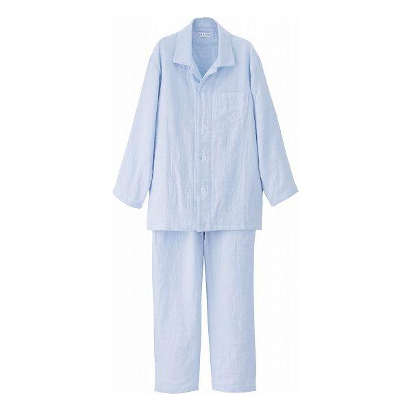 UCHINO マシュマロガーゼ メンズパジャマ RC15680 LB LAサイズ(代引不可)【送料無料】