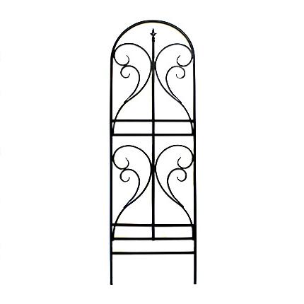 アイアントレリス フィニアル 2枚組 フェンス 2個セット 高い 高め アンティーク ガーデン ガーデニング おしゃれ(代引不可)【送料無料】