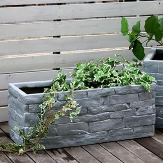 レンガ調プランター TERRE GRIS テール・グリ 幅80 プランター 植物 菜園 ガーデン ガーデニング シンプル 植木鉢(代引不可)【送料無料】