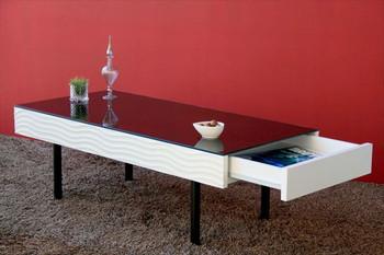 【SUR/シュール】 リビングテーブル センターテーブル テーブル リビングテーブル ヴィンテージ おしゃれ 机 リビング 鏡面 モノトーン ミッドセンチュリー(代引不可)【送料無料】