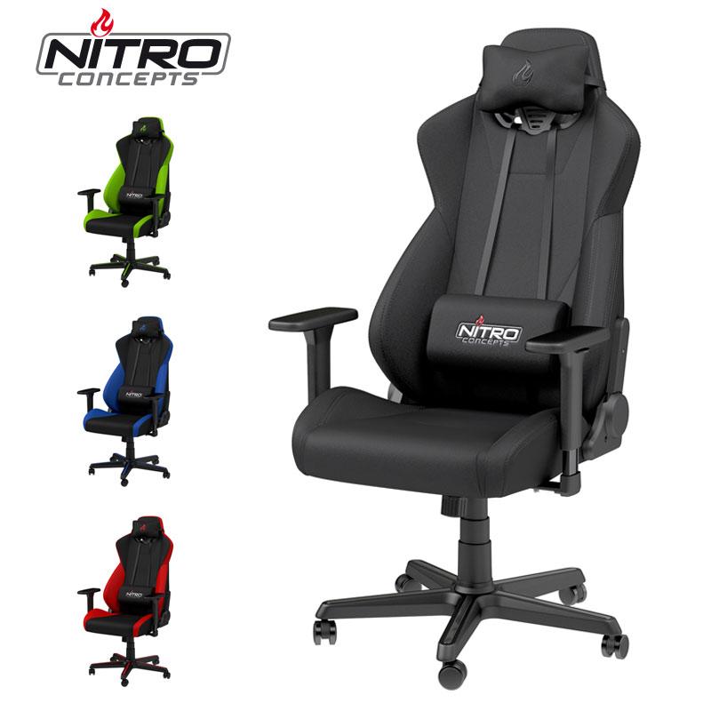 アーキサイト ゲーミングチェア Caseking Nitro Concepts S300 ロッキング アームレスト eスポーツ オフィス デスクチェア NC-S300(代引不可)【送料無料】