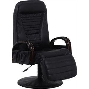 回転座椅子 LZ-4129BK (代引き不可)【送料無料】
