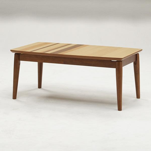 こたつ こたつテーブル 長方形 幅105cm 天然木 オーク材 天板違い貼り仕様 シンプル リビングテーブル おしゃれ 北欧(代引不可)【送料無料】