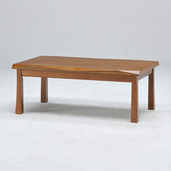 こたつ こたつテーブル 長方形 幅105cm ブラウン 天板なぐり仕様 シンプル リビングテーブル ローテーブル おしゃれ 北欧(代引不可)【送料無料】