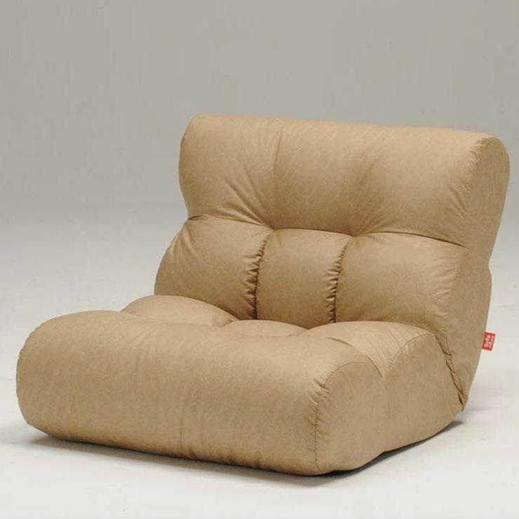 座椅子 ソファ 1P 一人掛け ローソファ リクライニング リラックス チェア 本革風 ピグレット2ndFL(代引不可)【送料無料】