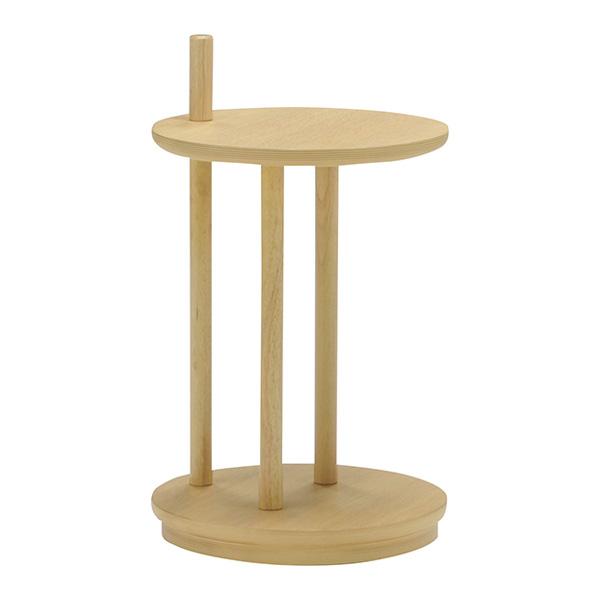 サイドテーブル 直径35cm 円形 キャスター付き オーク ウォールナット ナイトテーブル マルチテーブル シンプル おしゃれ 北欧(代引不可)【送料無料】
