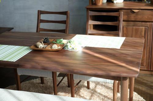 一生紀 ダイニングテーブル 幅135cm(ミディアムブラウン)【ウォルナット無垢材】(代引き不可)【送料無料】