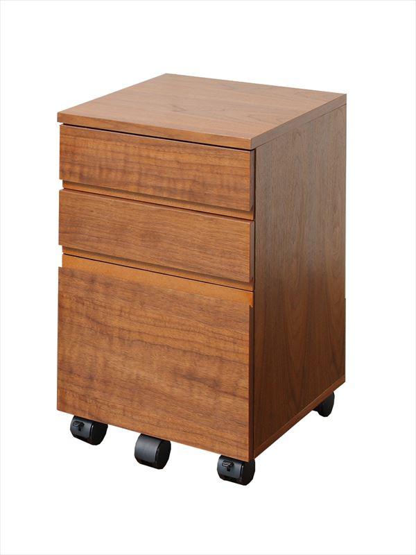 【Walnut Desk Chest w=340】ウォールナット デスクチェスト 幅340 K-2547(代引不可)【送料無料】