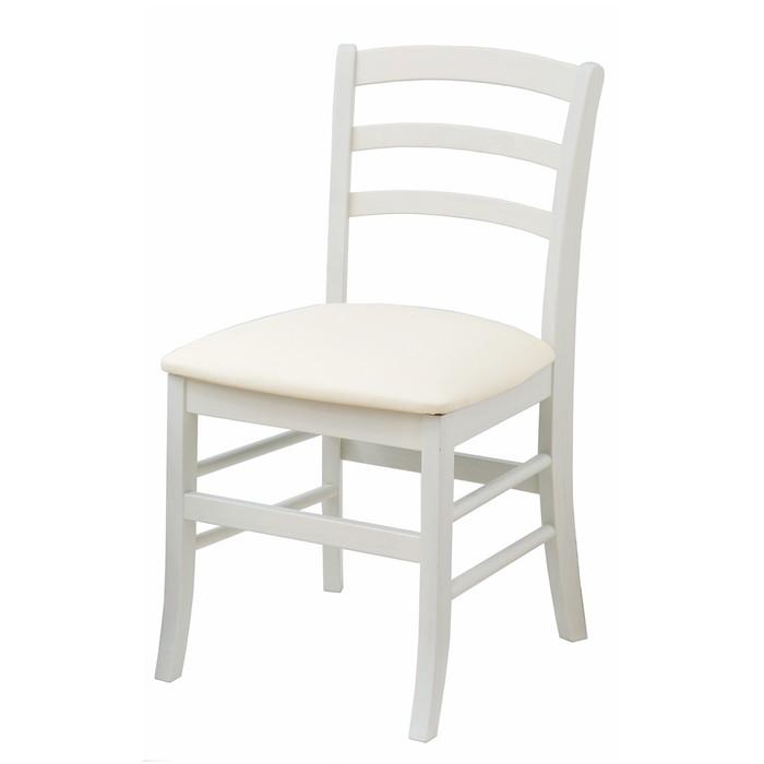 椅子 白家具 モノトーン チェアー ホワイト エレガント シンプル(代引不可)【送料無料】